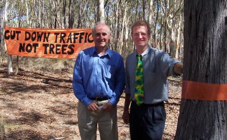 Mike on The Ridge with Conservation Council President Geoff Robertson